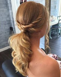 Image result for bridesmaid hair ponytail