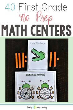 Trendy no prep math games first grade student 50 ideas First Grade Words, First Grade Lessons, Teaching First Grade, First Grade Teachers, 1st Grade Math, Math Lessons, Math Stations, Math Centers, Work Stations