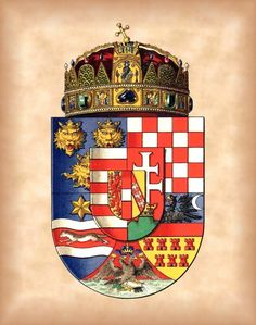 Kingdom of Hungary, by Hugo Gerhard Ströhl, -- The coat of arms show on… Hungarian Tattoo, Hungary History, Banner, Austro Hungarian, Family Crest, Crests, Coat Of Arms, Middle Ages, Medieval