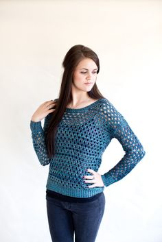 Teal Sweater – Le Marche'