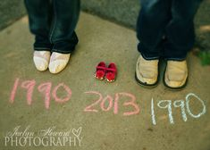Ideas on how to announce you're pregnant! your birth years and the baby's Jaclyn Heward Photography