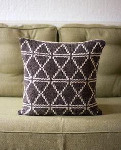 Modern Geometric Knitted Fairisle Cushion / Pillow by KnitFrekkles, £40.00