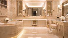 Trendy Bathroom Design Hotel Four Seasons Dream Bathrooms, Small Bathroom, Master Bathrooms, Royal Bathroom, Master Baths, Paris Bathroom Decor, Paris Decor, Paris Paris, Design Hotel
