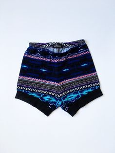 c20ce99225 Items similar to Toddler girl blue, black and pink aztec print shorts,  comfy girl trendy shorts, toddler girl yoga shorts, trendy baby clothes, ...