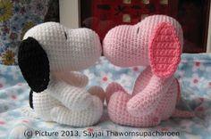Sayjai amigurumi crochet patterns ~ K and J Dolls / K and J Publishing: Pink Snoopy