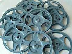 Vintage Retro Industrial Metal Film Movie Reels MEDIA ROOM Decor Ribbon Storage on Etsy, $20.00