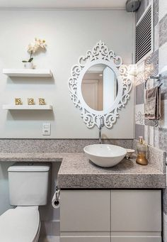 Most beutiful Photos Decoration Gallery and Ideas Bathroom Layout, Bathroom Interior, Small Bathroom, Decoration Inspiration, Bath Design, Little Houses, Home Projects, Sweet Home, Room Decor