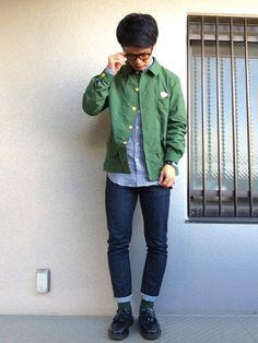 Dantonのカバーオール「【DANTON(ダントン)】カバーオールジャケット」を使ったebi-koudaiのコーディネートです。WEARはモデル・俳優・ショップスタッフなどの着こなしをチェックできるファッションコーディネートサイトです。