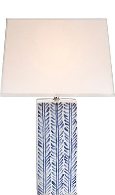 blue & white Juliana table lamp by Ralph Lauren #blue #white #lamp