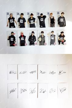 K2POP - SMTOWN POP-UP STORE EXO OFFICIAL GOODS - SPECIAL EXO MEMEBER PHOTO CARD WITH SIGNATURE (12PCS )