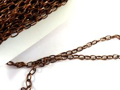 25ft Antique Copper Cross Chain Plated Iron 6.9x3.8mm Not Soldered NF/LF - 25 ft  - STR9023CH-AC25 by allearringsandsuppli on Etsy
