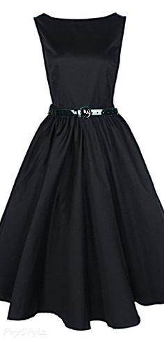 Vintage 50's Audrey Hepburn Style Rockabilly Swing Dress