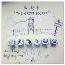 Rory's Story Cubes - The plot of the Great Escape by Steve Coleman Story Cubes, Teaching Posters, Teaching Writing, Speech Language Therapy, Speech And Language, Language Arts, Cube Template, Templates, Lego Wedo