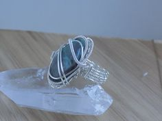 Quantum Quattro Tumbled Stone Wire Wrapped Silver by OurFrontYard