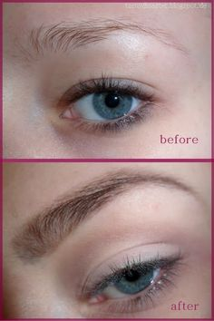 Before, during and after an eyebrow tint. | Face Paint & Hair Do\'s ...