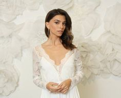 Emmaline Bride - Handmade Wedding Blog Spotted: the prettiest long sleeve wedding dress to kick off our handmade-a-day features this week! This timeless and elegant long sleeve lace dress is handmade with love by designer Barzelai.… Handmade Wedding Blog