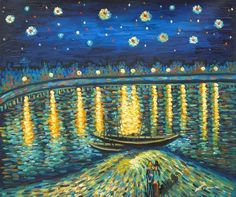 The bridge which is in people's dreamland - Van Gogh, oil paintings on canvas.