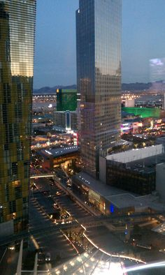 View from 14th floor in Aria Hotel on Las Vegas Strip!