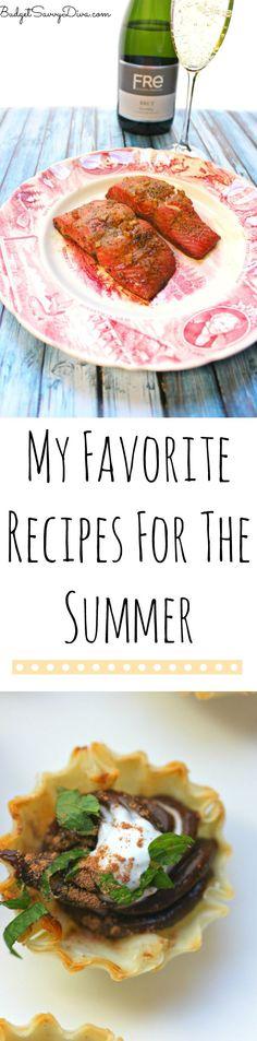 My Favorite Recipes For Summer #SipSmarter