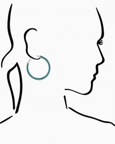 Native Tribe Hoop Earrings
