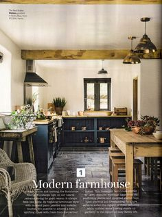 The November 2017 issue of Country Homes and Interiors included a feature on The Leicestershire Kitchen in the Woods calling it a 'modern farmhouse', it looked great!