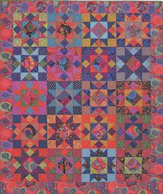 Kaffe Fassett Mardi Gras Stars quilt kit. Pattern by Liza Prior Lucy in 'Kaffe Quilts Again'