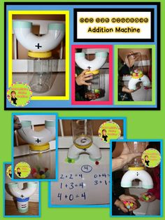 Addition machine! DIY. So easy to make and brings math to life!