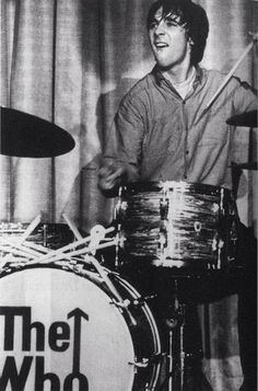 "Keith Moon - ""The Who"" Keith Moon, Roger Daltrey, Pete Townshend, John Entwhistle Keith Moon, Music Is Life, My Music, Music Wall, El Rock And Roll, Pop Rock, Music Icon, Shows, Pete Townshend"