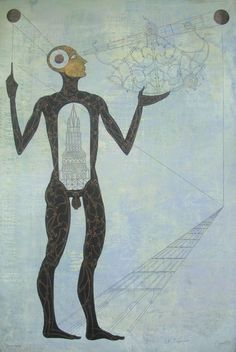 Carlos Estevéz - El ingeniero, oil and pencil on canvas Carlos Estevez, Cuban Art, Dream Pictures, Unusual Art, Triptych, Various Artists, Figurative Art, Contemporary Artists, Sculpture Art