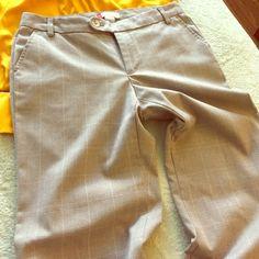 "Wide leg slacks Plaid wide leg dress slacks. Plaid with small pink stripe. Have been hemmed to a 29"" inseam. GAP Pants Wide Leg"