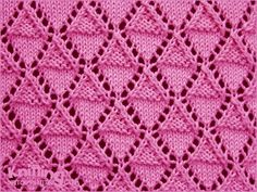 Stockinette and Garter Diamonds - Lace knitting Pattern