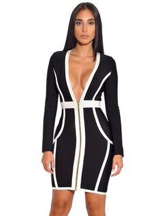 Exclusive Designer Black Long Sleeve Bandage Dress. Dream ClosetsLong  Sleeve Bandage DressBodycon DressElegantCollectionHow To WearClothesParty  ... b8a8ec2c1096