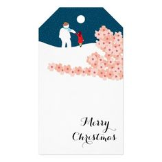 A Stroll With Snowman Christmas Gift Tags