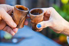 How to: Make DIY Wooden Shot Glasses | Man Made DIY | Crafts for Men | Keywords: sponsored, alcohol, tequila, woodworking #woodworkingtools...