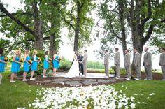 Beautiful setting. Oregon Rustic Wedding | rusticweddingchic.com