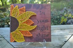 Let Your Light Shine Sunflower String Art by LittleStringandThing