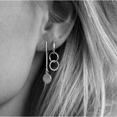Anna Nooshin Eternity Hoop Earring Silver