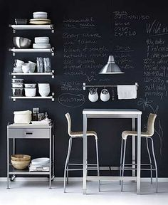 I've always loved the chalk board wall effect