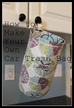 How to make your own car trash bag.this is a definite necessity for me! : How to make your own car trash bag.this is a definite necessity for me! Diy Sewing Projects, Sewing Tutorials, Sewing Crafts, Sewing Patterns, Car Crafts, Geek Crafts, Do It Yourself Inspiration, Quilted Bag, Bag Storage