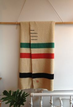 Hudson Bay blanket, Warm, cozy and they last forever.  It's at Maven Collective now