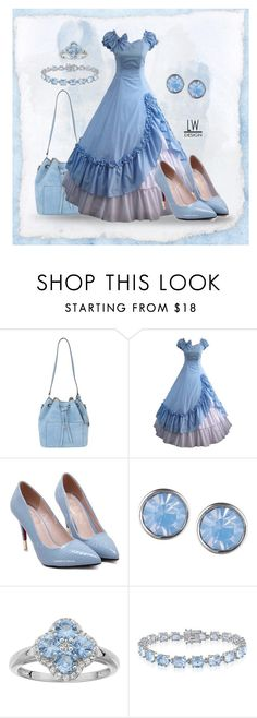 """""""Colonial Blue"""" by kashmier ❤ liked on Polyvore featuring Michael Kors, Lonna & Lilly, Belk & Co. and leaatherwooddesign"""