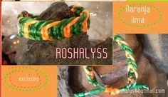 Las Manualidades de Roshalyss: pulsera naranja -lima