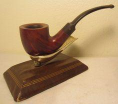 Vintage Henry Comoy's Bent Poker Style Estate Briar Tobacco Smoking Pipe France