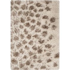 Rhapsody Collection Ultra Plush Area Rug in Parchment and Dark... ($104) ❤ liked on Polyvore featuring home, rugs, dark brown rug, coloured rug, off white rug, hand woven rugs and plush area rugs