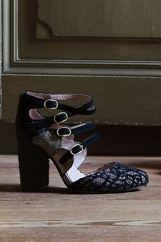 Miss Albright Shimmered Calico #Heels #Anthropologie
