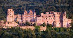 The Red Castle in Heidelberg, Germany