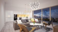 render 3d view, 3dfloorplan, interior, exterior, kitchen by thihoang