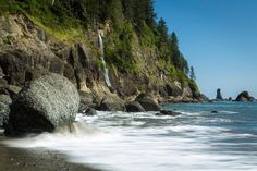Strawberry Bay Falls, Olympic National Park-South end of Third Beach, just off La Push Road near the Quileute Reservation.