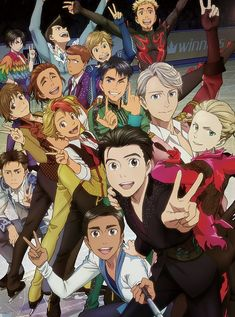 Official Yuri!!! On ICE Canvas Print -  Group Shot - Default Title