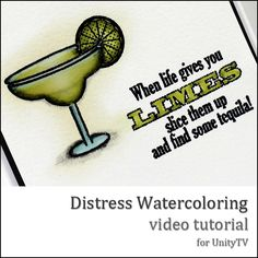 A video tutorial about Distress Watercolourinng for UnityTV.